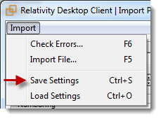 Importing a production file