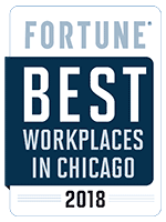 Fortune - Best Places to Work in Chicago 2018 Award