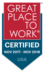 Great Place to Work Certified 2017-2018