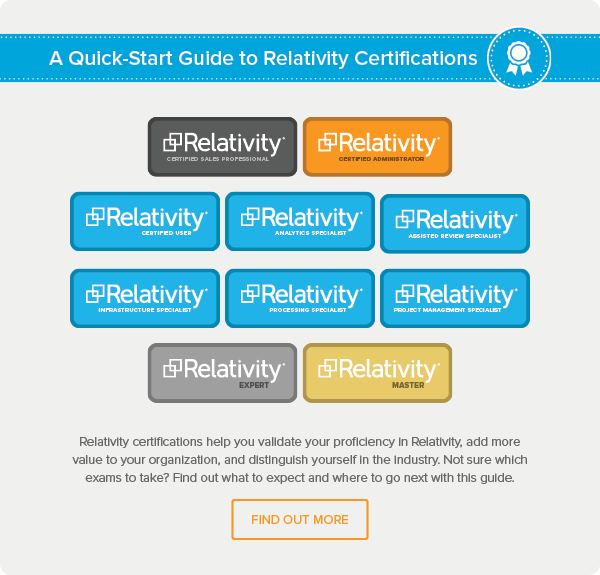 Begin Your Journey Toward e-Discovery Master | Blog | Relativity